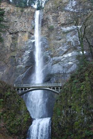 Multinomah Falls in winter