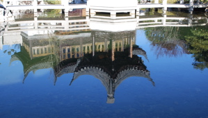 Reflection of the Teahouse at the Portland Chinese Garden